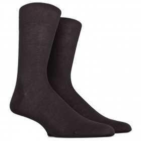 Black socks in fine mercerised cotton lisle