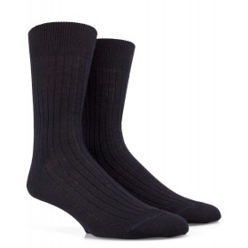 Ribbed wool socks - Black