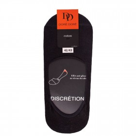 Black Egyptian cotton footlets in flat knit